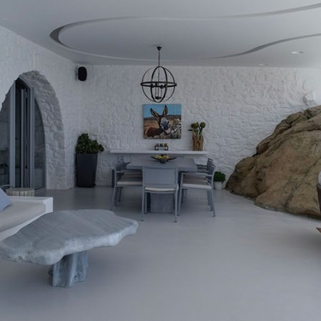 mykonos villa for rent in Aleomandra exterior