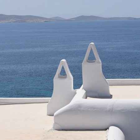 view from mykonos villa for rent in Aleomandra