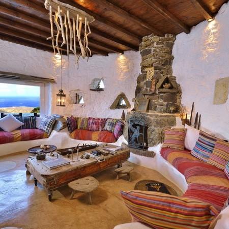 Mykonos Gem Villa Living
