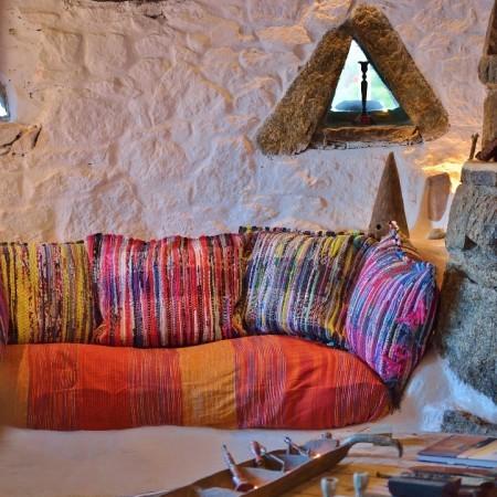 living room at mykonos gem