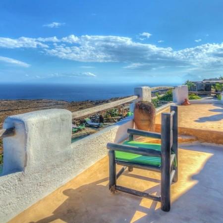 villa mykonos gem balcony with sea view