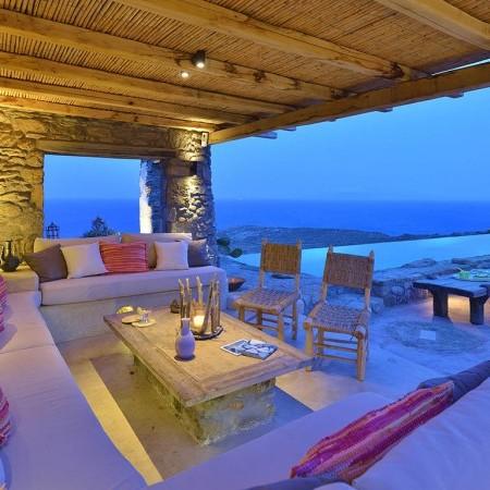outdoor lounge night