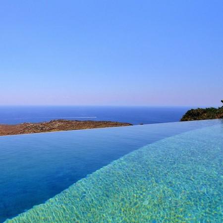 amazing infinity pool with salt water
