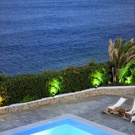 mykonos villa beach access