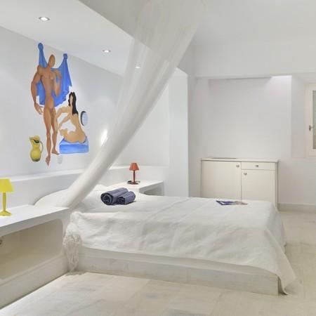 mykonos villa bedroom
