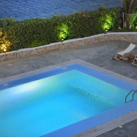pool area villa paradise beach access