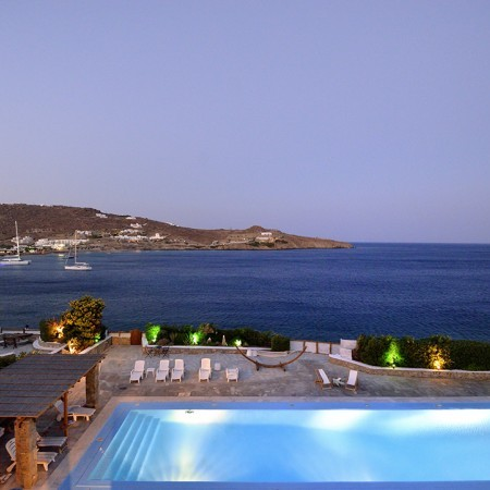 mykonos villa with pool