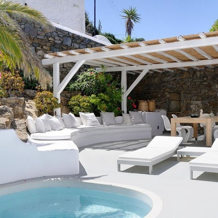 pool and sun loungers