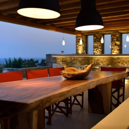 outdoor dining villa seascape