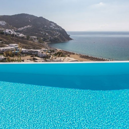 infinity pool with sea view