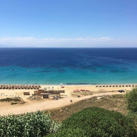 Elia beach close to the villa