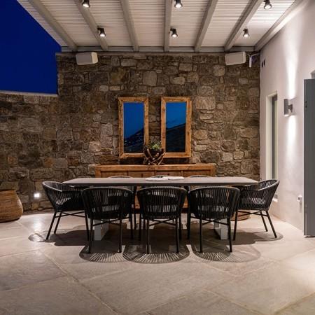 dining area at night