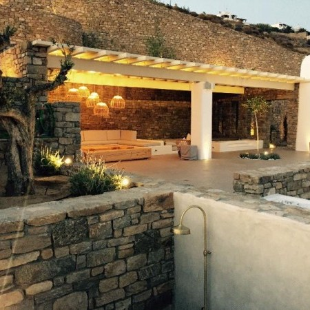 exterior mykonos villa acqualina