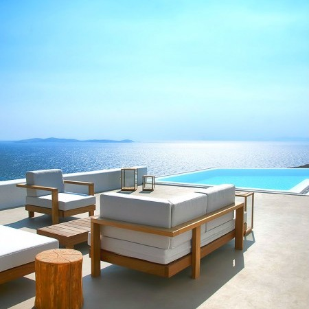 Mykonos luxury villa private pool