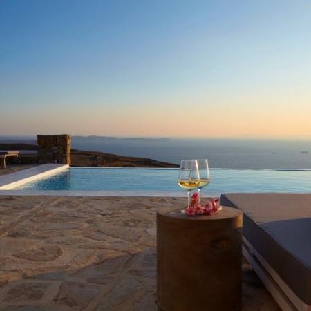 villa crystal sunset