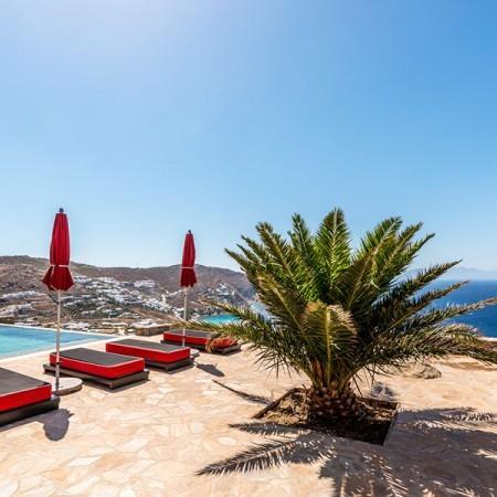 mykonos villa for rent at elia beach