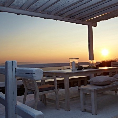mykonos villa moon sunset