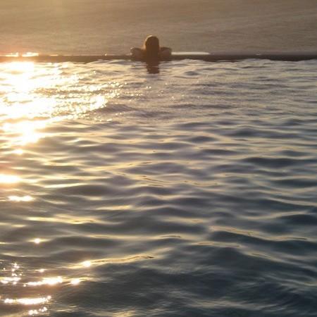 villa omni a pool sunset