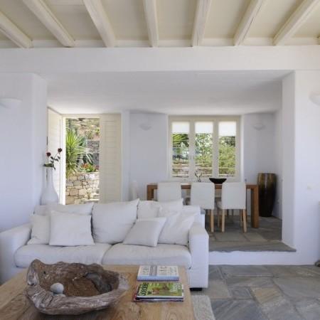 mykonos villa living room