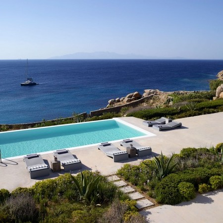 top view of villa Aegli 1 in Mykonos