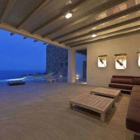 villa castle night outdoors