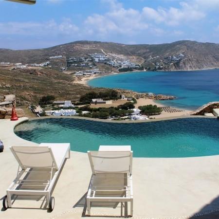 castle villa mykonos pool