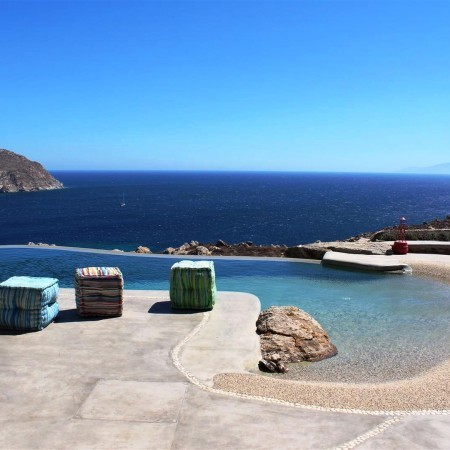 Mykonos villa swimming pool