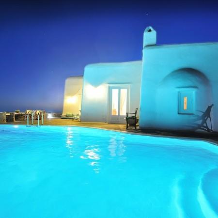 villa orsalia mykonos night
