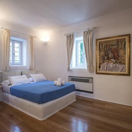 double bedroom blue
