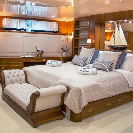 Yacht's double cabin