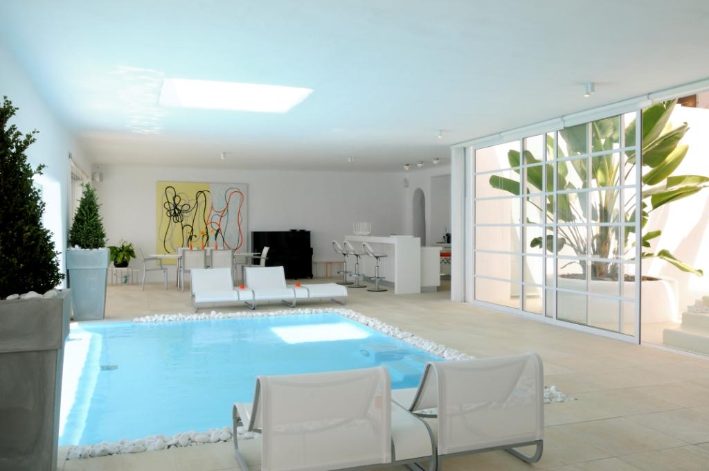 indoor pool villa cyan